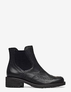 Ankle boot - flade ankelstøvler - black