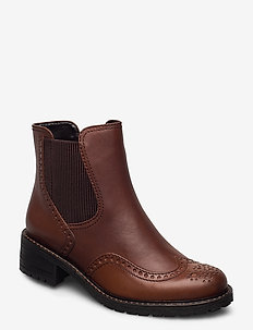 Ankle boot - flat ankle boots - brown