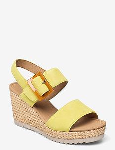 Ankle-stap sandal - espadrilles mit absatz - green