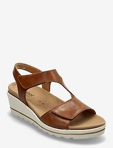 Ankle-stap sandal - sandales à talons - beige