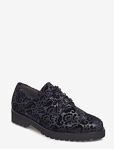 Sporty loafer - snøresko - black