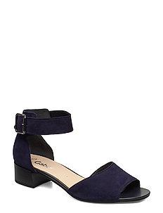 Gabor Sling Sandals Blue Kvinnor Skor Högklackade Sandaler