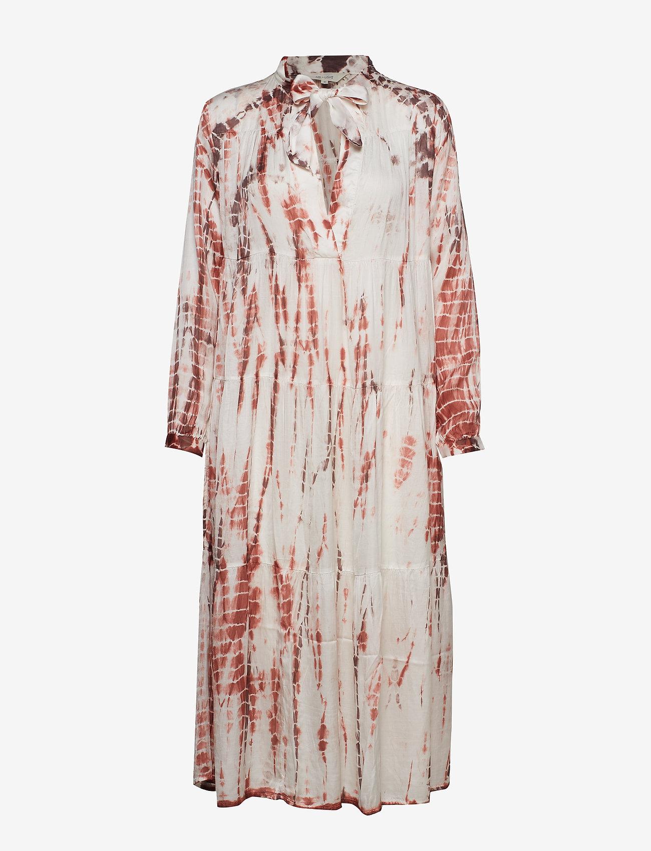 Gai+Lisva - Gaia - midi dresses - ecru/tie dye withered rose
