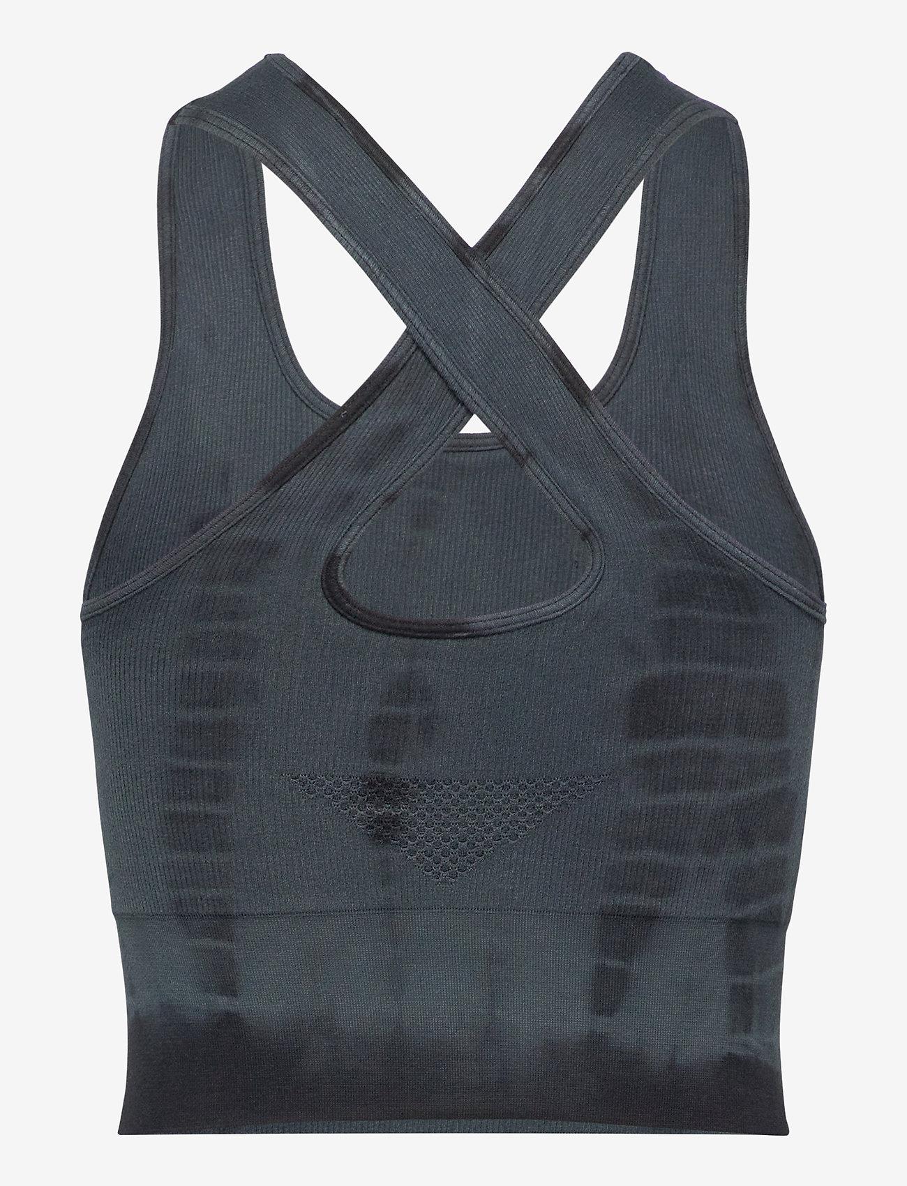 Gai+Lisva - Lifa - crop tops - petrol grey tie dye - 1