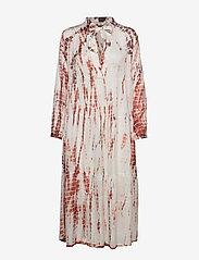 Gai+Lisva - Gaia - midi dresses - ecru/tie dye withered rose - 0