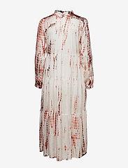 Gai+Lisva - Gaia - midi dresses - ecru/tie dye withered rose - 1