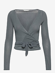 Gai+Lisva - Anne Top - crop tops - petrol grey - 1