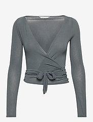 Gai+Lisva - Anne Top - crop tops - petrol grey - 1