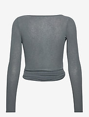 Gai+Lisva - Anne Top - crop tops - petrol grey - 2