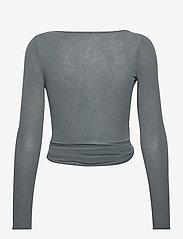 Gai+Lisva - Anne Top - crop tops - petrol grey - 2
