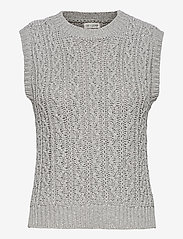 Gai+Lisva - Othilia - knitted vests - light grey melange - 0