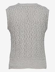 Gai+Lisva - Othilia - knitted vests - light grey melange - 1