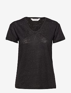 Sif v-neck - basic t-shirts - black
