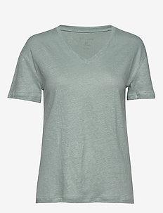 Sif v-neck - basic t-shirts - iceberg green