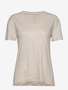 Sif v-neck - basic t-shirts - moonstruck