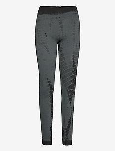 Lena - leggings - petrol grey tie dye