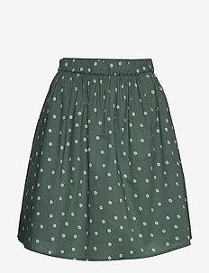 Aslaug - korte nederdele - daisy print balsam green comb. 2