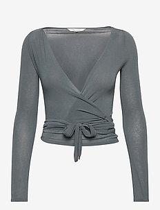 Anne Top - crop tops - petrol grey