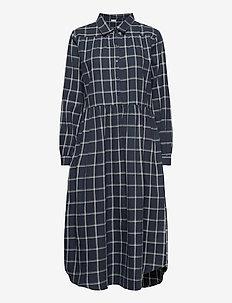 Tina - midi kjoler - navy checks