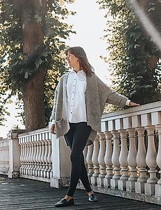 Shanta - langærmede skjorter - white