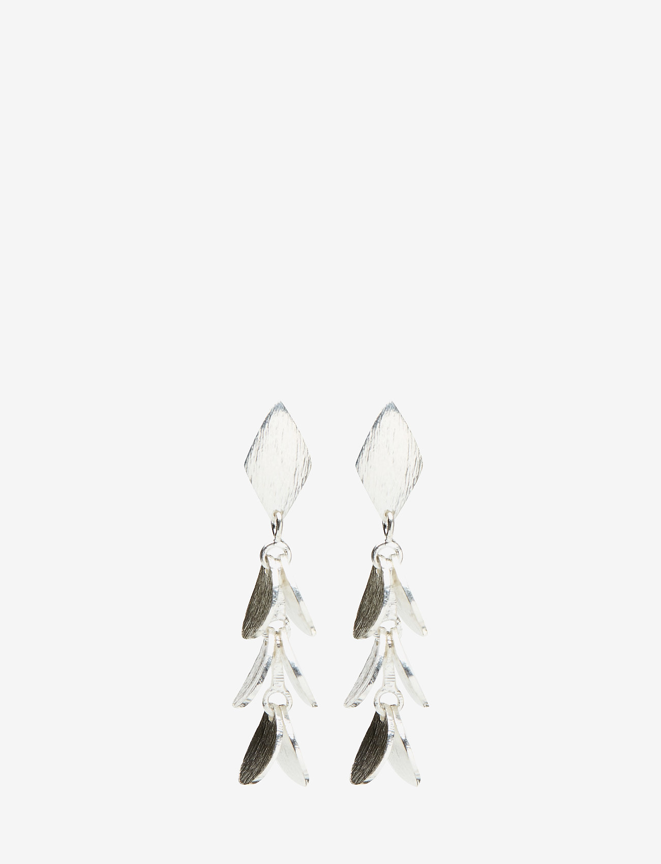 Gaia Jewels - Small Pinetree - statement earrings - silver - 0