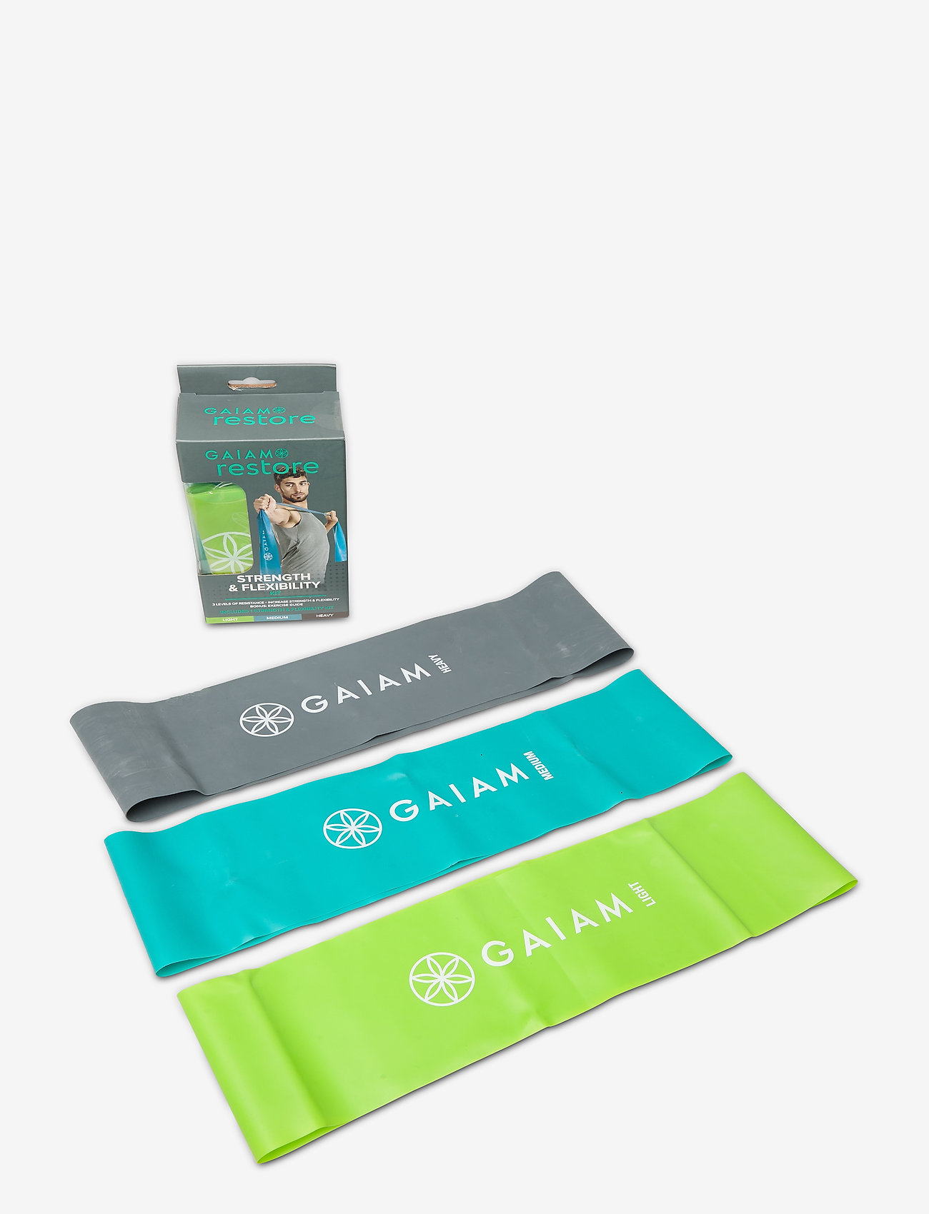 Gaiam - Strength & Flexibility - trainingsmateriaal - green, blue, grey - 1