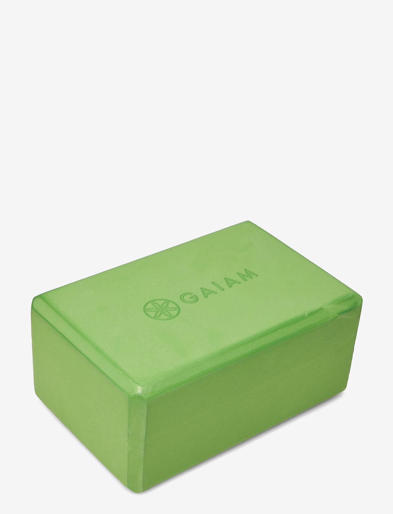 Gaiam - Yoga Block Green - yogamatten & uitrusting - green - 1