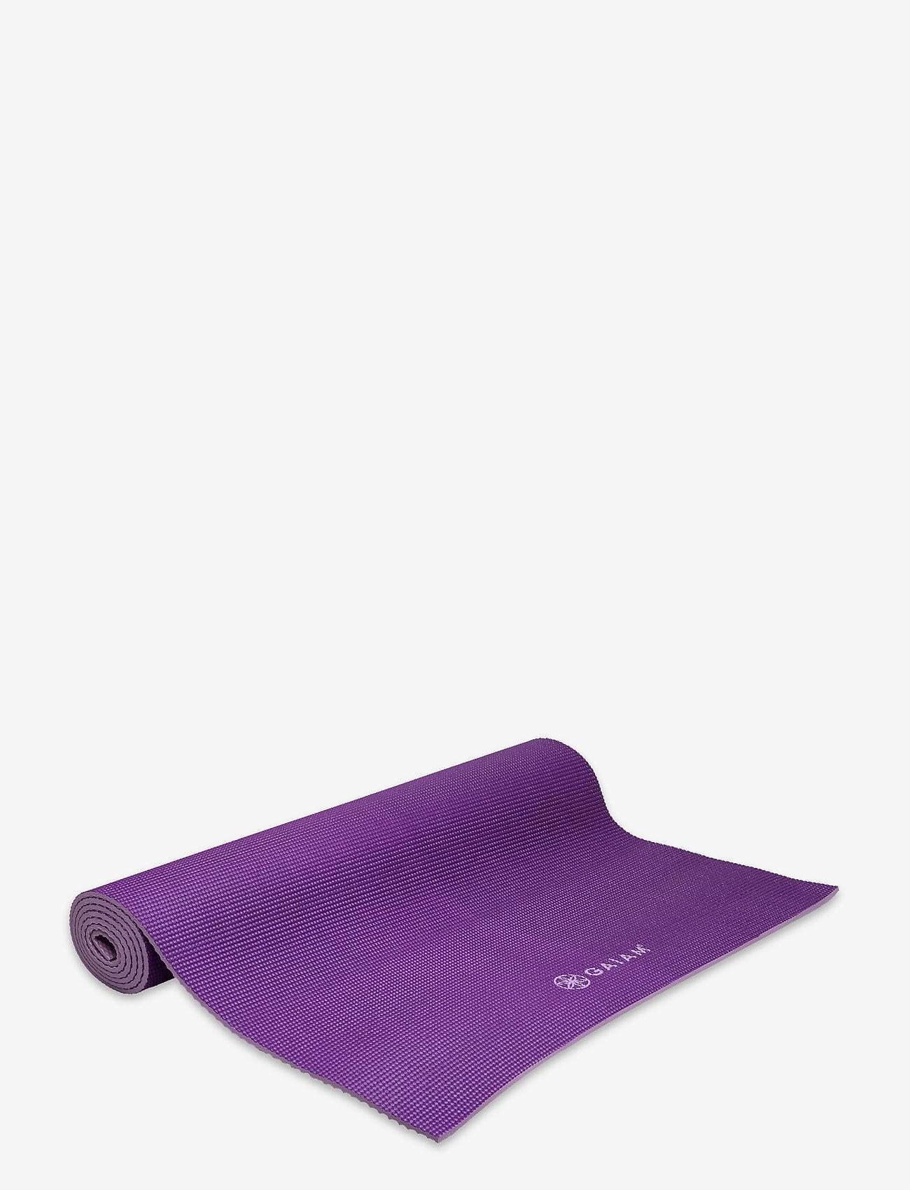 Gaiam - 6mm Yoga Mat Premium 2-Color Plum Jam - yogamatten en -accessoires - purple - 1
