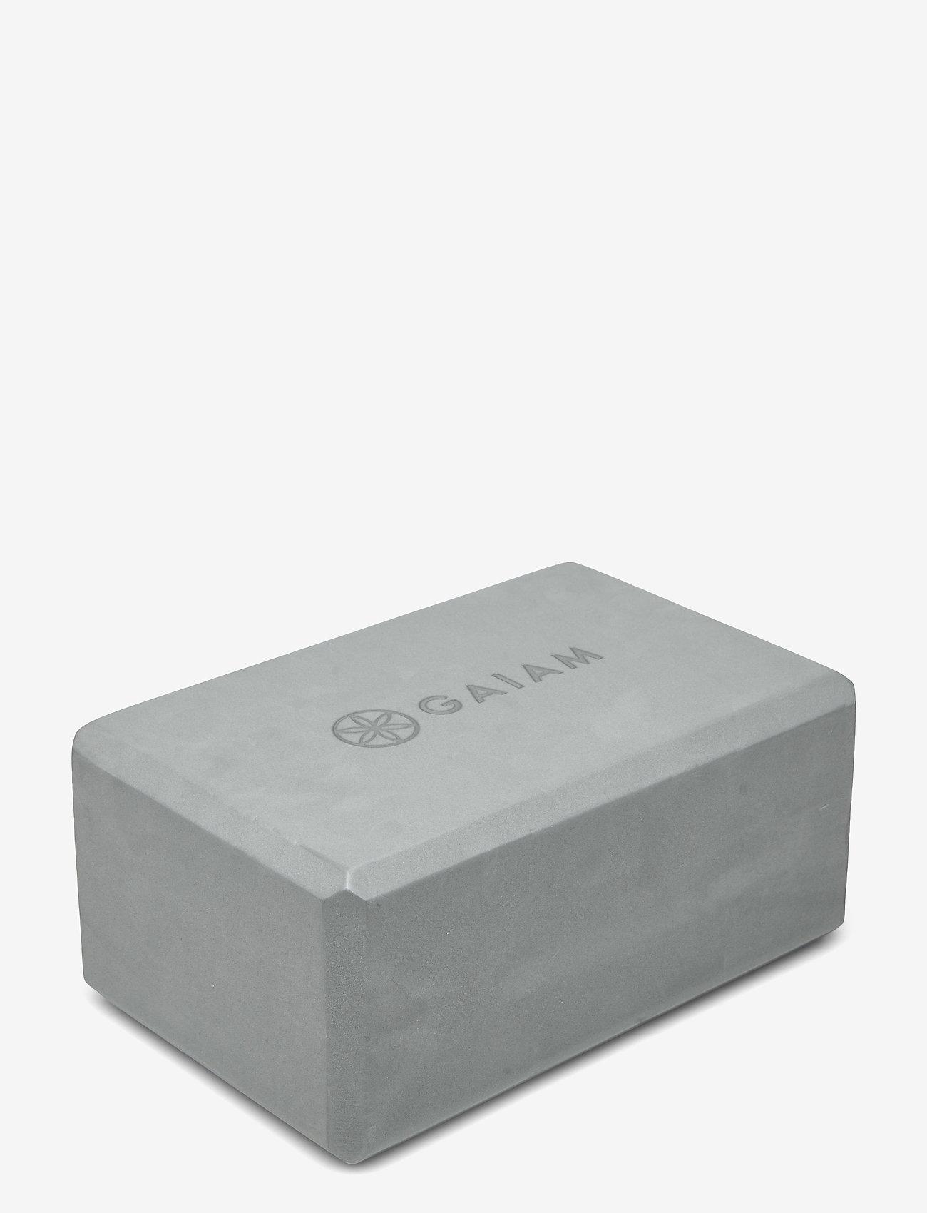 Gaiam - GAIAM YOGA BLOCK GREY - joogablokit ja vyöt - grey - 0