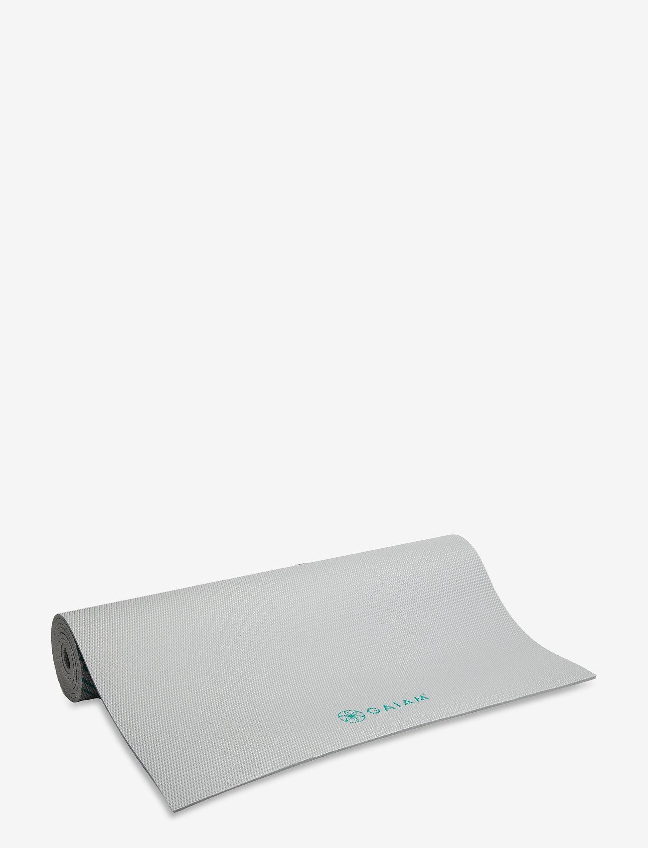Gaiam - 6mm Yoga Mat Teal Marrakesh Longer/Wider - joogamatot ja tarvikkeet - teal - 0