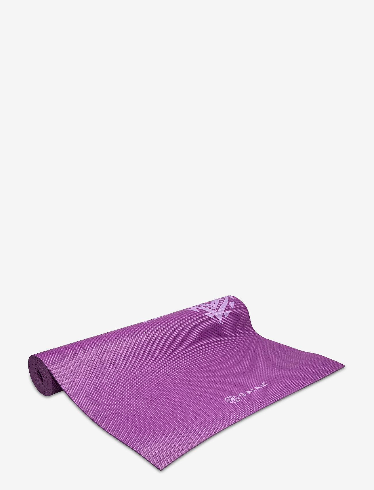 Gaiam - 6mm Yoga Mat Pruple Mandala - joogamatot ja tarvikkeet - purple - 0