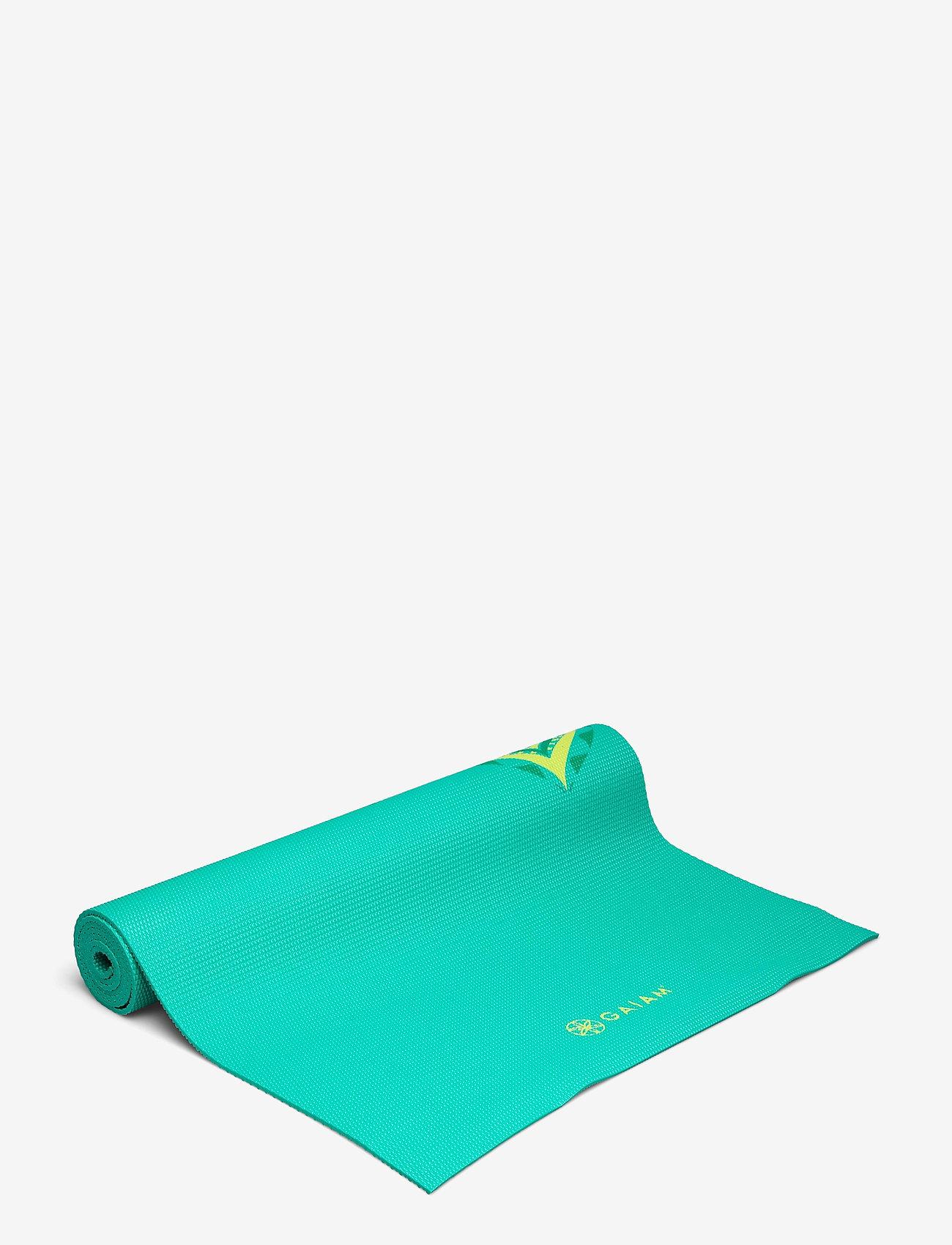 Gaiam - 6MM Yoga Mat Capri - joogamatot ja tarvikkeet - turquoise - 1
