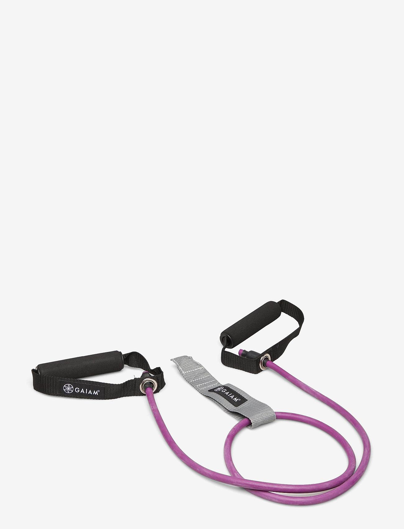 Gaiam - Resistance Cord & Door Attachment Kit Light - kotitreenivälineet - purple - 0