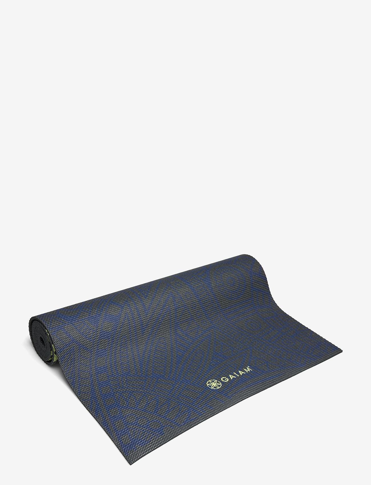 Gaiam - 6mm Yoga Mat Sundial Layers - joogamatot ja tarvikkeet - black - 0
