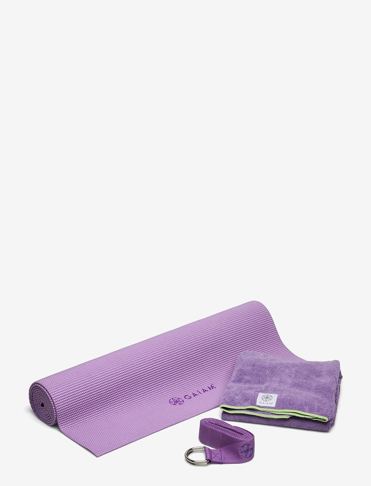 Gaiam - Hot Yoga Kit Purple - joogamatot ja tarvikkeet - purple - 0