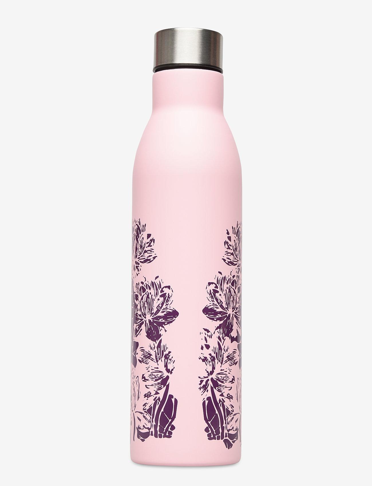 Gaiam - Easy Grip Water Bottle Floral - vannflasker og termoser - pink - 1