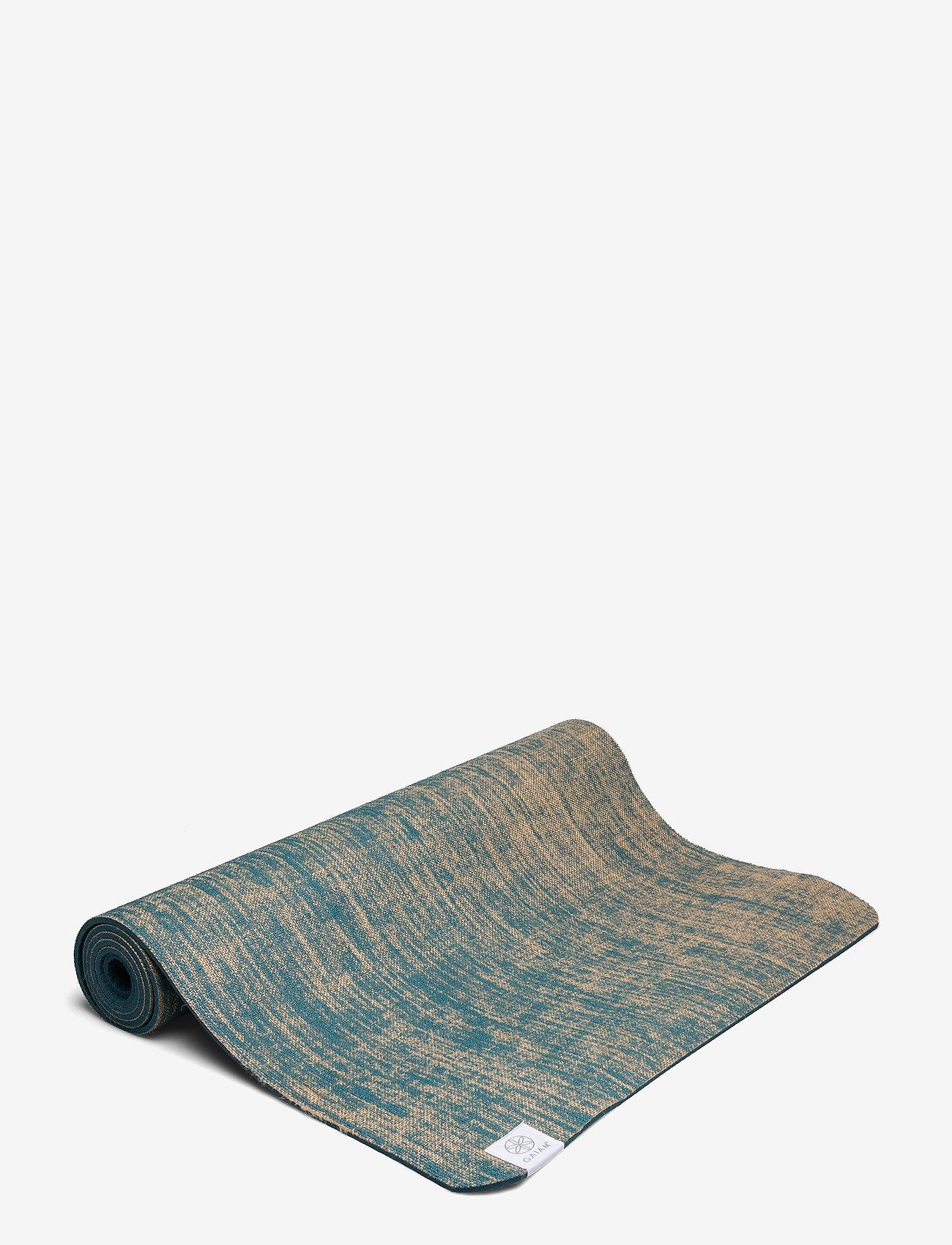 Gaiam - 5mm Yoga Mat Jute - yogamatten & uitrusting - blue - 1