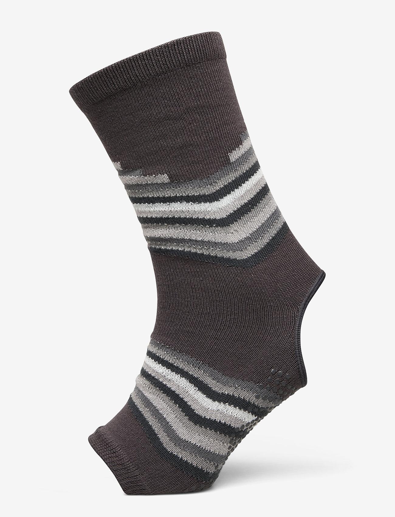 Gaiam - Grippy Yoga Anklets Smoky Grey - yogamatten & uitrusting - smokey grey - 1