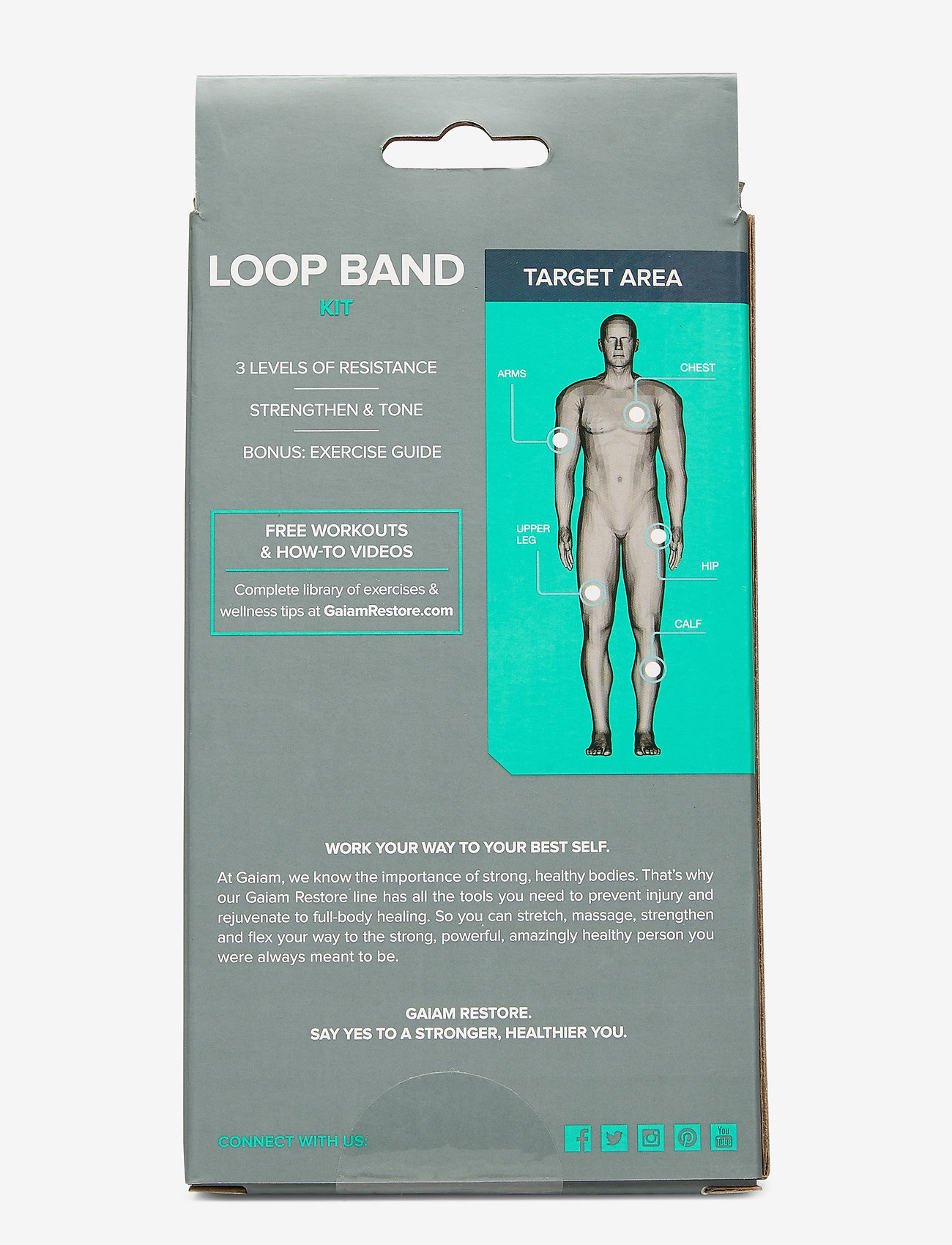 Gaiam - Restore Loop Band Kit - weerstandsband - green, blue, grey - 1