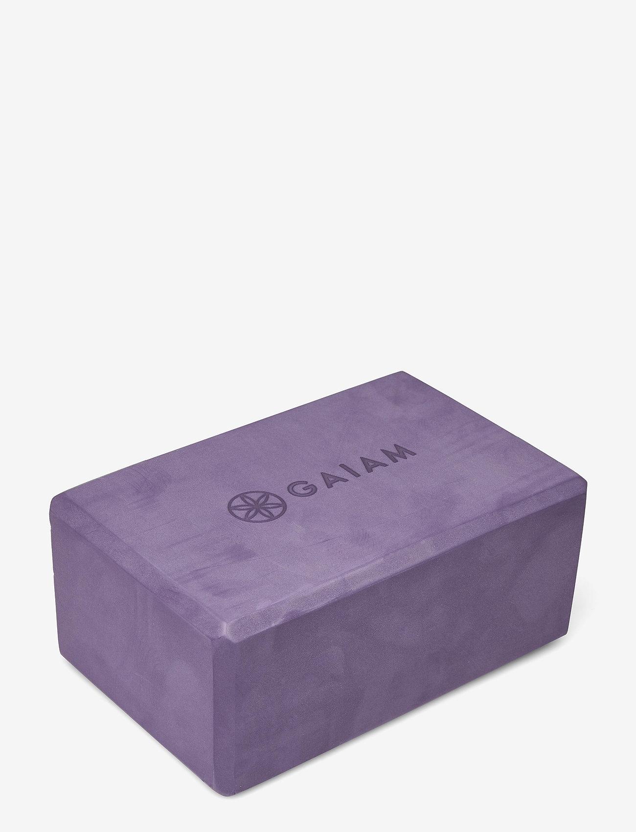 Gaiam - Yoga Block Navajo Heron - joogablokit ja vyöt - purple - 1