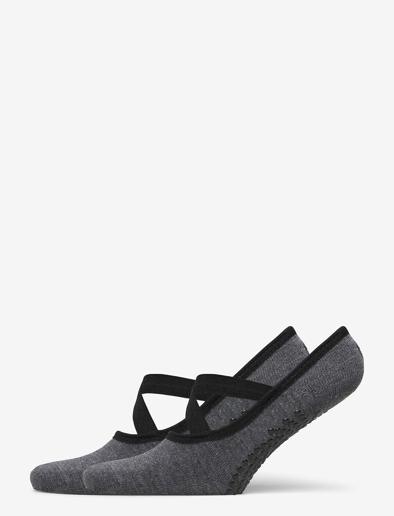 Gaiam - Grippy Yoga Barre Socks Granite 2-Pack - joogasukat - grey - 0