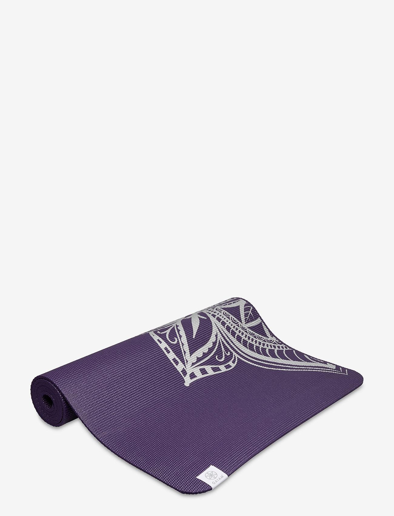 Gaiam - 6mm Yoga Mat Aubergine Madallion - joogamatot ja tarvikkeet - purple - 1