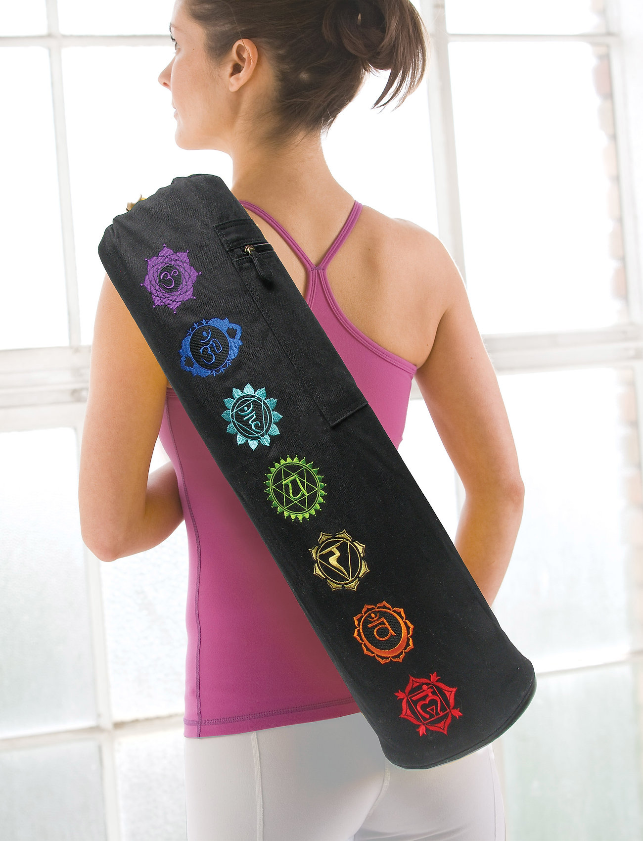 Gaiam - Chakra Yoga Mat Bag - yogamatten & uitrusting - black - 0