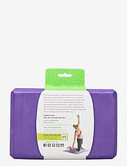 Gaiam - GAIAM YOGA BLOCK PURPLE - yogamatten & uitrusting - purple - 2