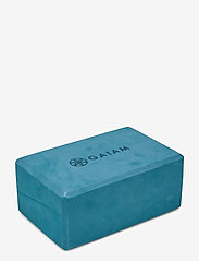 Gaiam - Yoga Block Blue Teal - joogablokit ja vyöt - teal - 1