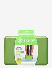 Gaiam - Yoga Block Green - yogamatten & uitrusting - green - 0