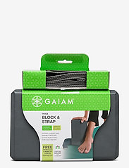 Gaiam - GAIAM BLOCK-STRAP COMBO GREY - joogablokit ja vyöt - grey - 1