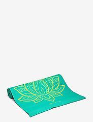 Gaiam - 6MM Yoga Mat Reversible - yogamatten & uitrusting - turquoise, green - 0