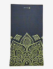 Gaiam - 6mm Yoga Mat Sundial Layers - joogamatot ja tarvikkeet - black - 2