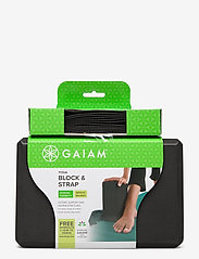Gaiam - GAIAM BLOCK-STRAP COMBO BLACK - joogablokit ja vyöt - black - 1